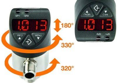 Nuevo presostato electrónico PSD-4 con rango de presión escalable 5:1″